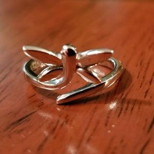 STERLING SILVER BUTTERFLY PINKY RING